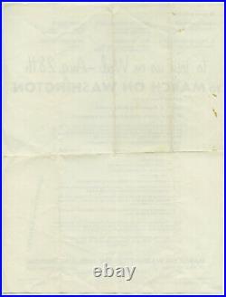 BOB DYLAN Martin Luther King Jr 1963 MARCH ON WASHINGTON Orig Concert Handbill
