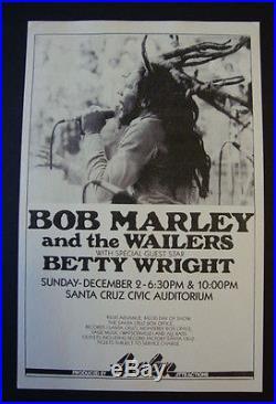 BOB MARLEY 1978 ORIGINAL CONCERT POSTER 1ST PRINT / Reggae Rasta