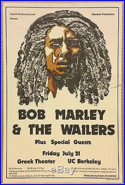 BOB MARLEY & THE WAILERS Original 1978 Concert Poster