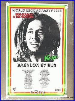 Bob Marley World Reggae Party 1978 Original Concert Poster Reggae Kaya