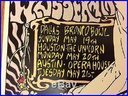 BOB WEIR Grateful Dead Concert Tour 1991 FRANK KOZIK ORIGINAL SIGNED Poster RARE