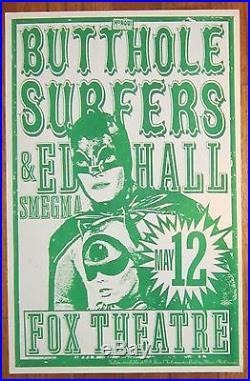 BUTTHOLE SURFERS Batman Batgirl CONCERT POSTER Flyer PORTLAND OR 1991 Mike King