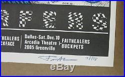 BUTTHOLE SURFERS Houston/Dallas 1988 CONCERT POSTER KOZIK Signed MINT! PUNK