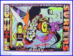 BUTTHOLE SURFERS- Original 2009 Concert Poster S/N by Lindsey Kuhn, Psychic Ills