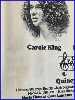 Barbra Streisand James Taylor King Mcgovern Beatty Nicholson Concert Poster