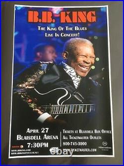 Bb King 2011 Signed! Original Hawaii Concert Poster. (rare!)