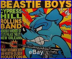 Beastie Boys original 1992 concert Poster by Frank Kozik