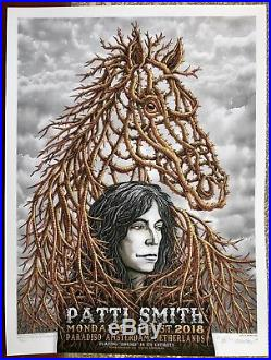 Beautiful Mint Original Patti Smith Amsterdam Concert Poster Matched # Set Emek