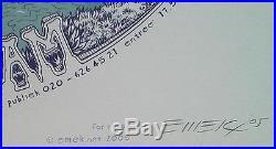Beautiful Original Mint'05 Wilco Amsterdam Silkscreen Concert Poster Emek Jc26