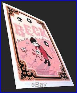 Beck in Amsterdam Original Silkscreen Concert Poster'06 s/n 500 Tara McPherson