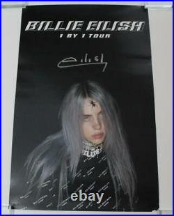 Billie Eilish Signed Autograph 1 By 1 Tour Concert Poster Very Rare, Bad Guy