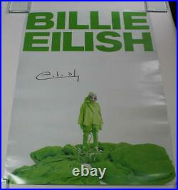 Billie Eilish Signed Autograph Concert Poster When We Fall Asleep Where Do We Go