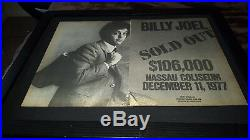 Billy Joel Rare Original Nassau Coliseum 1977 Concert Promo Poster Ad Framed