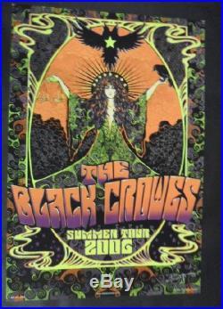 Black Crowes Summer 2006 Concert Poster Biffle Silkscreen Original