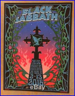 Black Sabbath Ozzy Osbourne Las Vegas 2016 Original Concert Poster Dubois