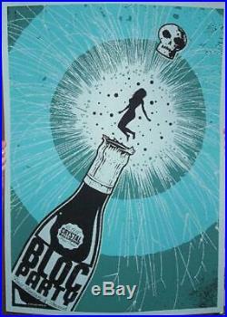 Bloc Party Portland 2007 Concert Poster Todd Slater Silkscreen Original
