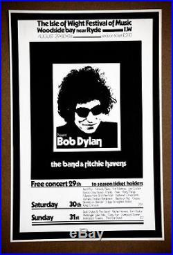 Bob Dylan Richie Havens Isle of Wight Concert Rare Original 1969 Promo Poster