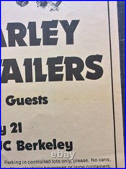 Bob Marley And The Wailers Original Concert Poster at Greek Theater UC Berkeley