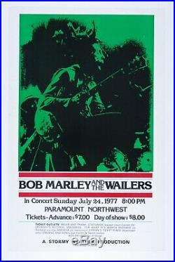 Bob Marley and the Wailers Concert Poster 1977-Paramount Northwest Scarce