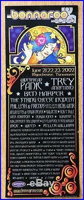 Bonnaroo Trey Widespread Panic Sci 2002 Original Concert Poster Rare