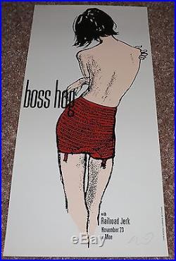 Bosshog Railroad Jerk silkscreen 1995 concert poster Jeff Kleinsmith