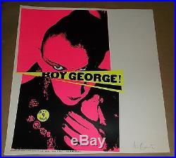 Boy George Seattle 1995 silksccreen concert poster Art Chantry signed