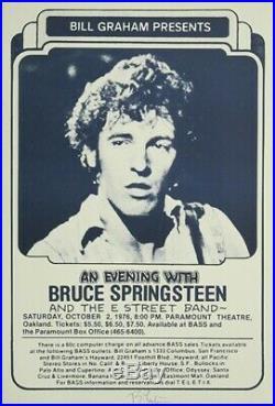 Bruce Springsteen 1976 Paramount ORIGINAL Concert Poster SIGNED by Randy Tuten