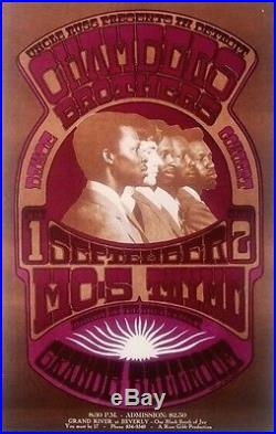 CHAMBERS BROTHERS MC5 GRANDE BALLROOM 1967 concert poster GARY GRIMSHAW NM AOR