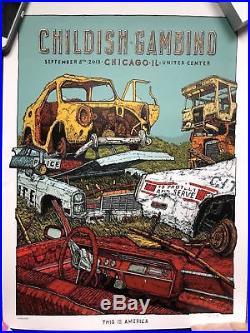 CHILDISH GAMBINO THIS IS AMERICA 2018 TOUR CHICAGO CONCERT PRINT POSTER Landland