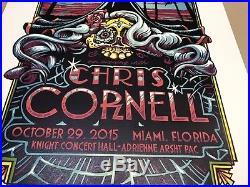 CHRIS CORNELL Concert Poster Masthay 2015 Miami AP Print Soundgarden