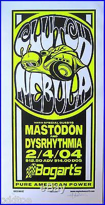 CLUTCH- NEBULA- Mastodon ORIG. 2004 Concert Poster s/n by Mike Martin