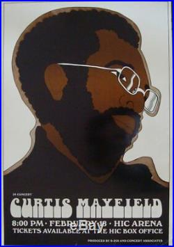 CURTIS MAYFIELD 1973 HAWAII Concert poster 14x20 VERY RARE