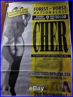 Cher Belgium Concert Poster 90's