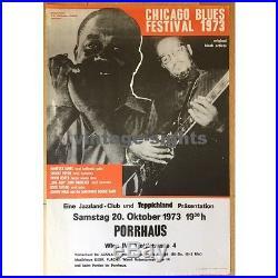 Chicago Blues Festival 1973 Porrhaus / Vienna (Vintage Concert Poster)