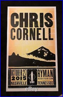 Chris Cornell Hatch Show Print Concert Poster @ Ryman in Nashville, TN 2015