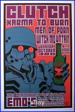 Clutch Concert Poster 2001 Brian Ewing A/P Austin