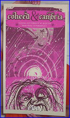Coheed & Cambria Philadelphia 2004 Concert Poster Ap Slater Silkscreen Original