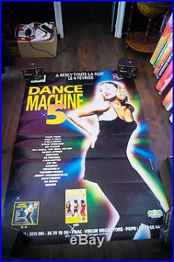 DANCE MACHINE 5 4x6 ft Shelter Original Music Concert Advertising Poster 1995