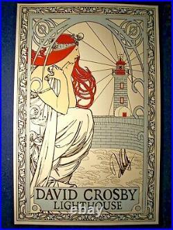 DAVID CROSBY C. S. N. Crosby, Stills, Nash Signed Autographed Concert Poster RARE