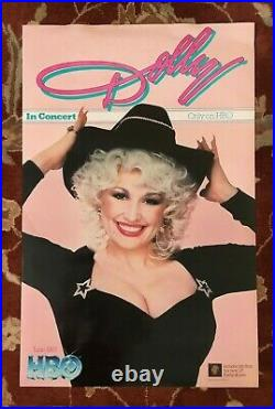 DOLLY PARTON In Concert (HBO) rare original promotional poster