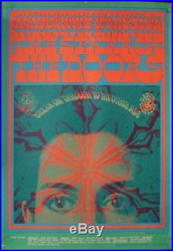 DOORS FD50-2 FAMILY DOG AVALON BALLROOM VICTOR MOSCOSO concert poster 1967 RARE