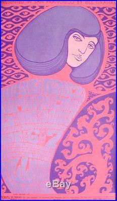 DOORS + YOUNG RASCALS BG44-2 FILLMORE vintage concert poster BILL GRAHAM 1967 NM