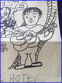 Daniel Johnston Concert Poster 1998 OK Hotel With Brown Whornet