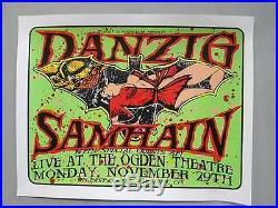 Danzig Samhain Denver 1999 Concert Poster Silkscreen Kuhn Original Misfits