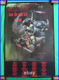 Danzig Vintage Poster 90's 1992 How The Gods Kill Tour Concert Glenn Misfits