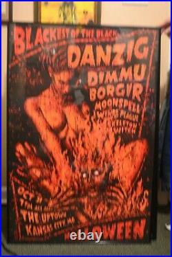 Danzig with Dimmu Borgir Halloween Silkscreen concert poster