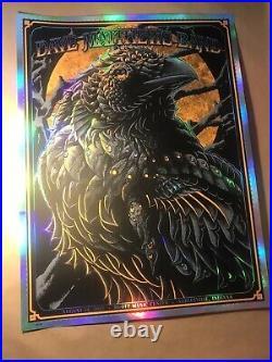 Dave Matthews Band Foil Variant Concert Poster Noblesville Ben Kwok 129/150 Rare