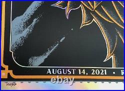 Dave Matthews Band Poster noblesville foil ben kwok 2021 concert 8/14 106/150