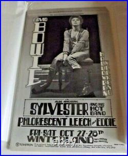 David Bowie 1972 Winterland Original Concert Poster by Randy Tuten