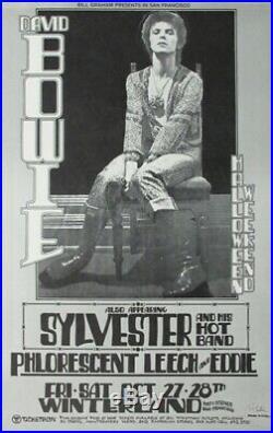 David Bowie 1972 Winterland Original Concert Poster by Randy Tuten SHIPS FREE